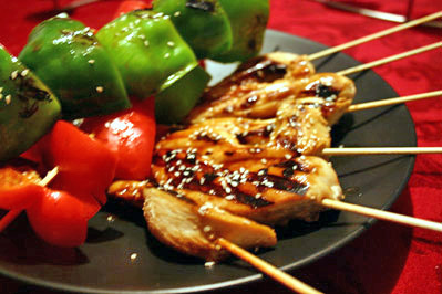 Chicken Skewers with Soy-Mirin Marinade