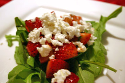 Strawberry, Mint, and Goat Cheese Salad