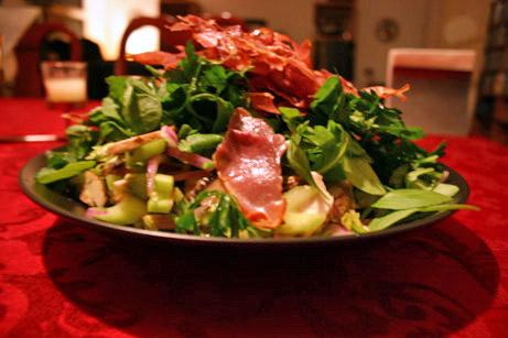 Portobello Salad with Crispy Prosciutto