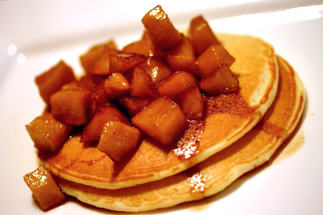 Pancakes with Apple Molasses Compote
