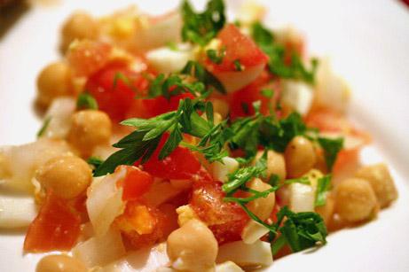 Chickpea (Garbanzo Bean) and Tomato Salad Recipe