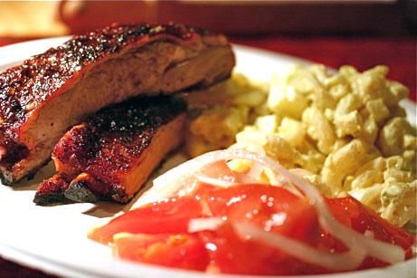 Ribs with Big Daddy Rub | Mega Egga Macaroni Salad | Chrissy's Sweet 'n' Sour Tomato Salad
