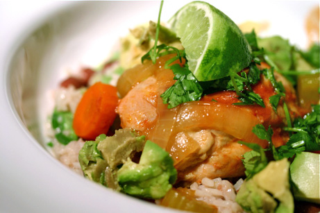 Slow Cooker Chipotle-Lime Chicken Thighs Jamaican Rice and Peas