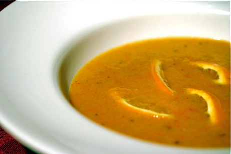 Roasted Orange-and-Bell Pepper Soup