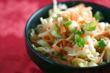 Daikon, Carrot, and Broccoli Slaw