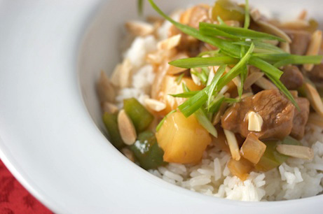 Spicy Sweet-and-Sour Pork with Coconut Rice