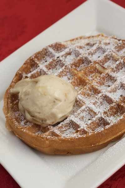 "Emma's Belgian Waffles with Banana ""Ice Cream"""