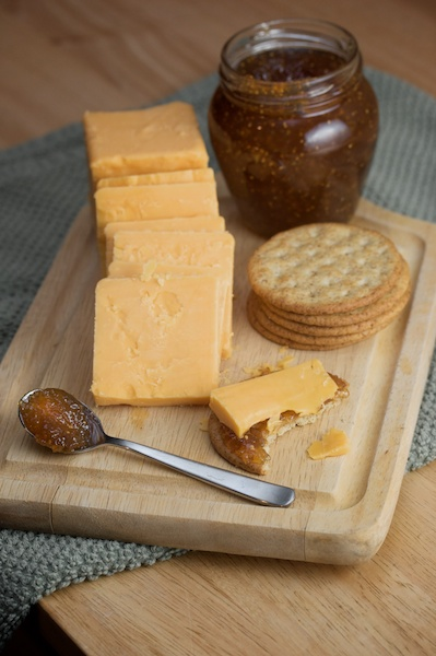 Sharp Cheddar with Fig Jam