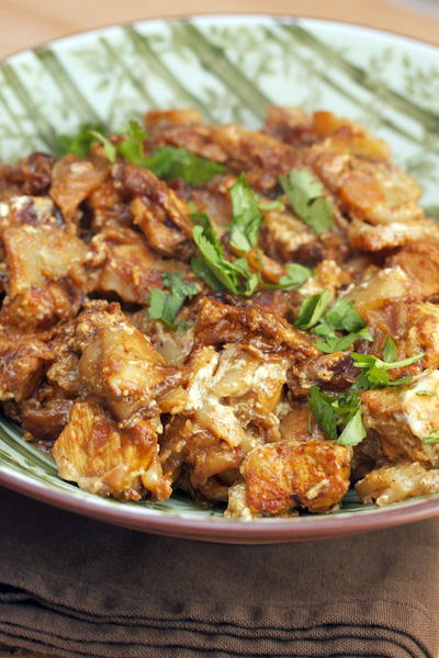 Cubed Pork with Potatoes, Yogurt, and Tamarind (Coorgh-Style Pork Curry)