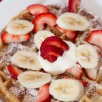 Belgian Waffles with Fresh Fruit and Crème Fraiche