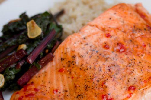 Wild Salmon with Sweet Red Chili Glaze