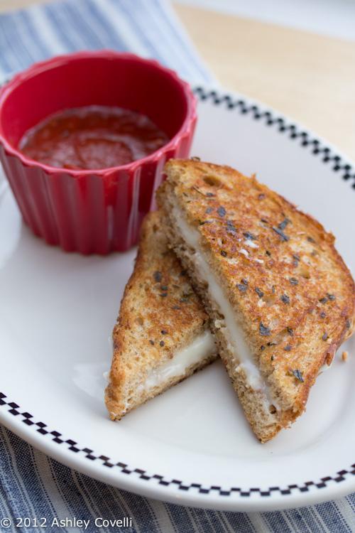 Grilled Mozzarella Sandwich with Pizza Sauce