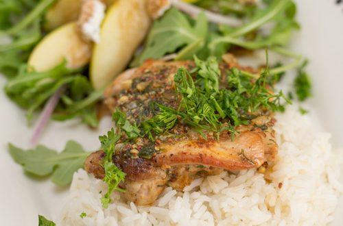 Chicken with Herb-Mustard Pan Sauce