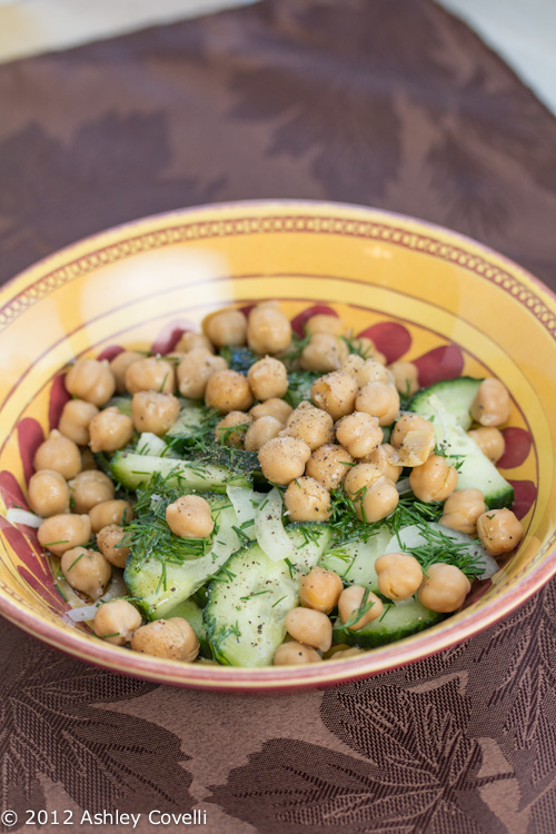 Cucumber and Chickpea Salad with Dill