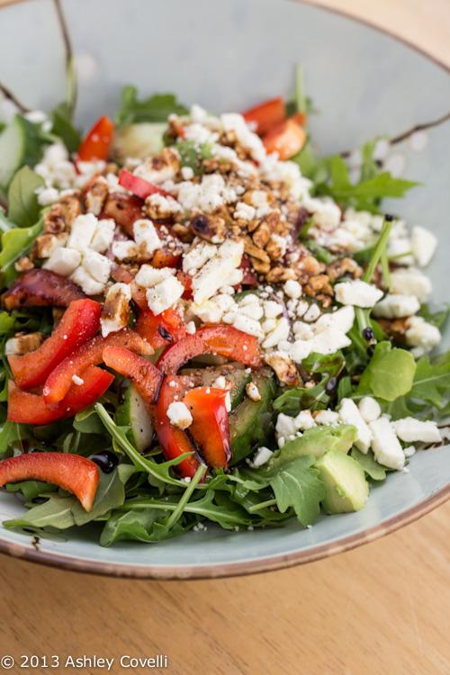 Greek-ish Arugula Salad