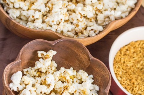 Stove-Popped Popcorn with Bollywood Coconut Curry Seasoning
