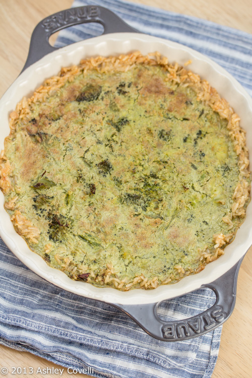 Supper Club: Quiche with Brown Rice Crust