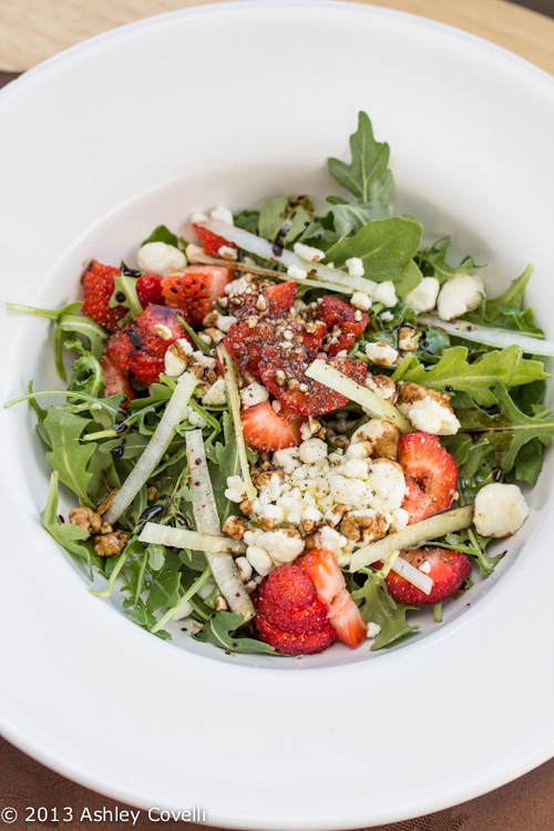 Strawberry and Goat Cheese Salad with Aged Balsamic