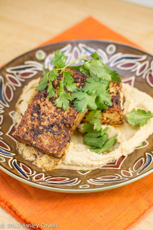 Chilli-Spiced Tofu with Hummus