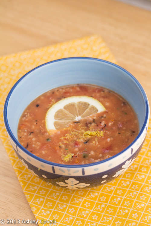 Basil-Scented Oat and Tomato Soup