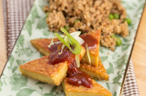 Pan-Fried Tempeh with Bourbon Whiskey BBQ Sauce