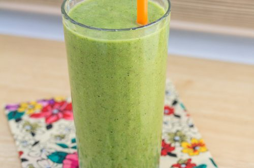 Orange, Pear, Avocado Kale Smoothie