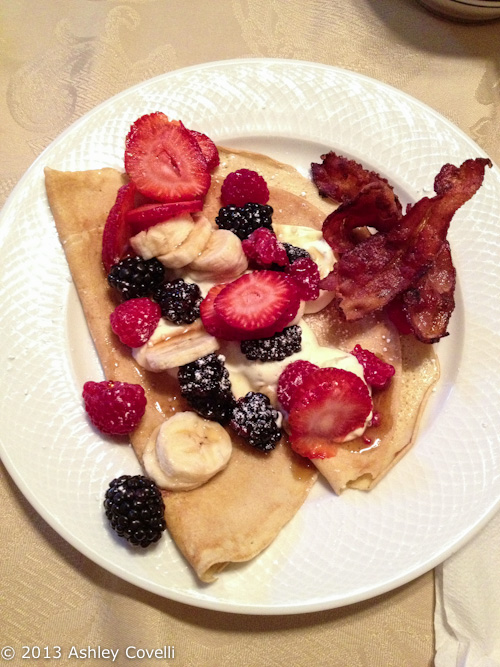 Crepes with Fresh Fruit and Crème Fraîche