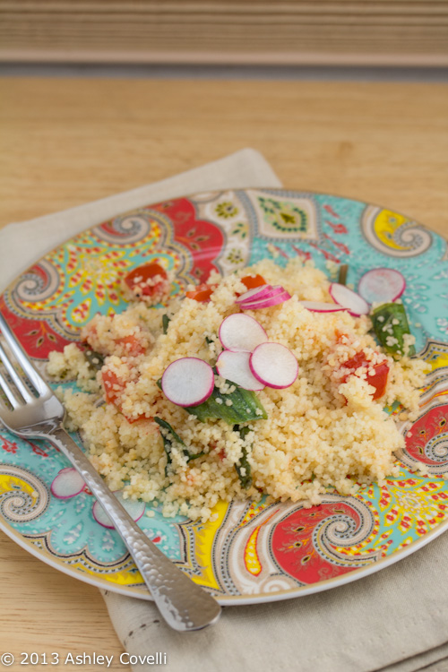 Couscous with Sautéed Ramps and Tomato