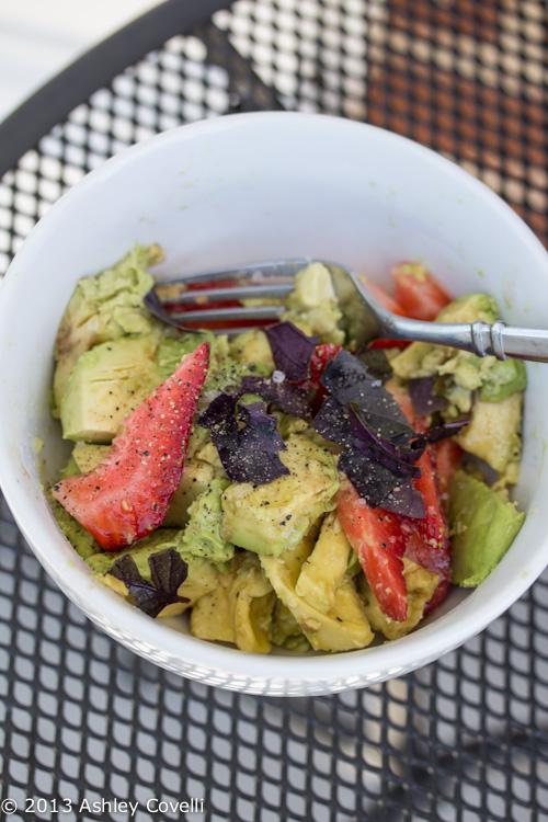 Avocado & Strawberry Salad with Balsamic-Lime Vinaigrette