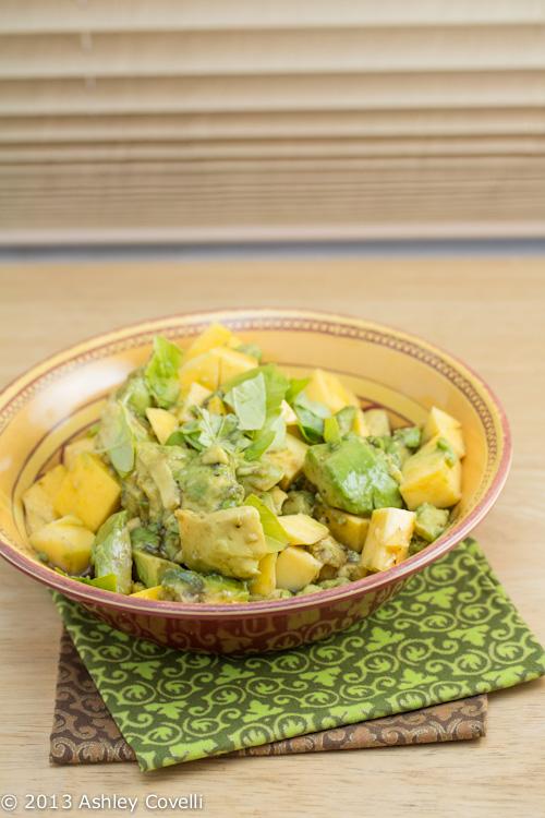 Mango and Avocado Salad with Balsamic-Lime Vinaigrette