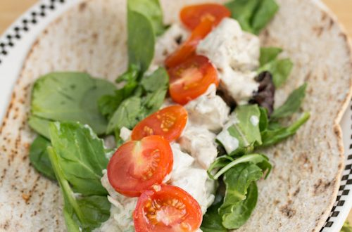 Curried Pork Salad Wraps