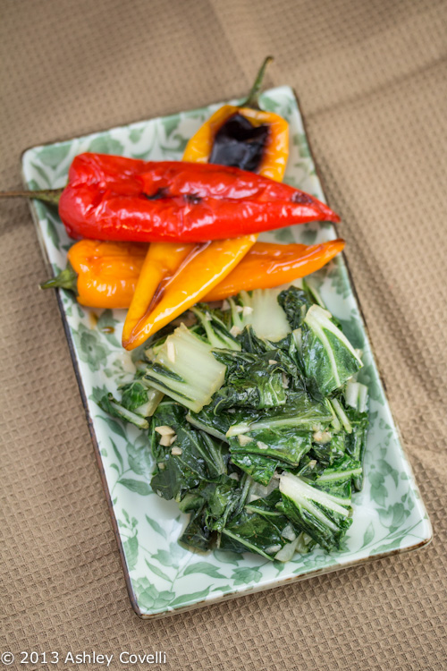 Asian Greens with Garlic, Ginger + Fish Sauce