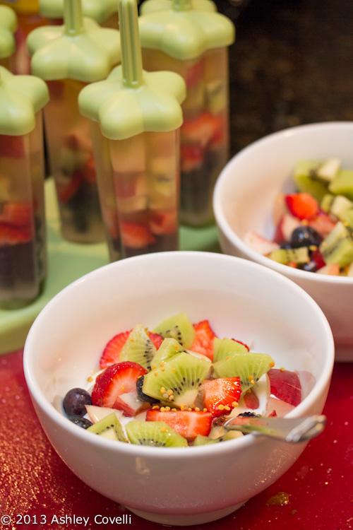 Greek Yogurt Parfaits w Fruit, Honey and Bee Pollen