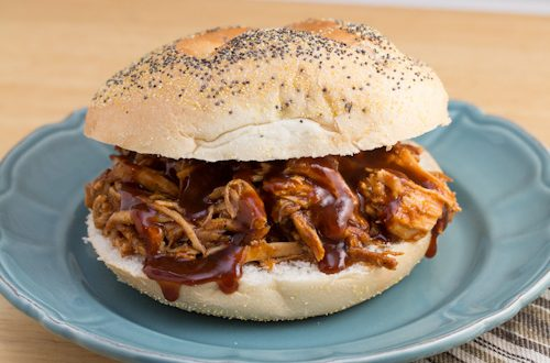 Pulled Pork Sandwiches with Hickory Bourbon BBQ Sauce