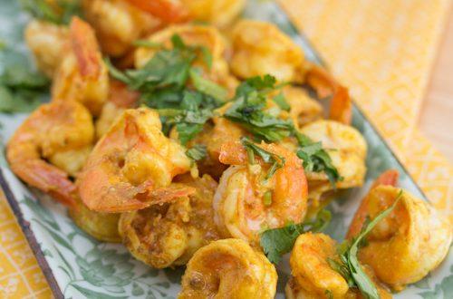 Jhinga Vindaloo (Shrimp with Cashew Nuts and Vinegar)