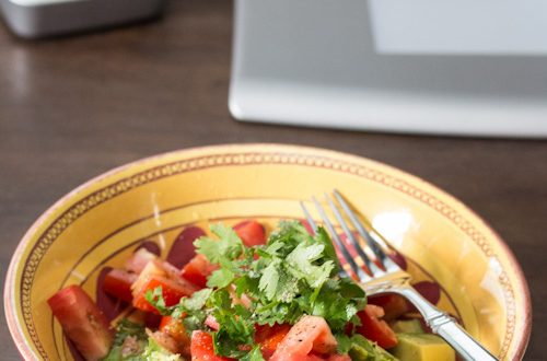 Avocado, Tomato & Cilantro Salad with Lime