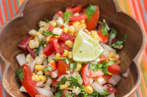 Raw Sweet Corn and Tomato Salsa