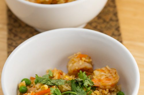 Shrimp and Vegetable Fried Rice
