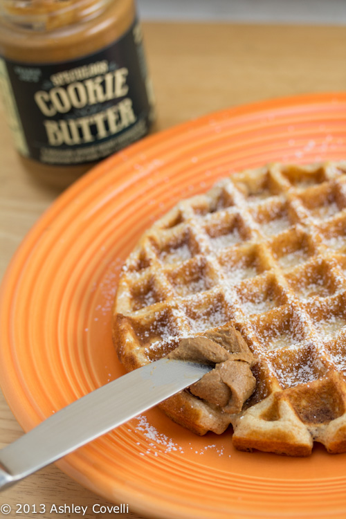 Belgian Waffles with Speculoos Cookie Butter