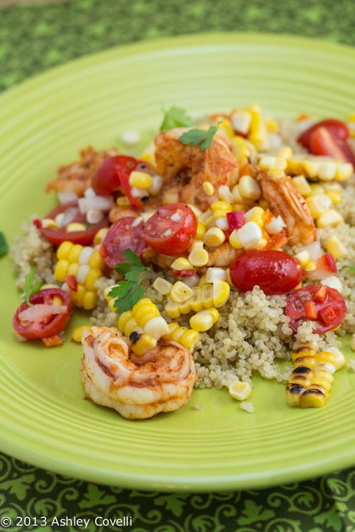 Smoky Shrimp with Charred Corn Salsa