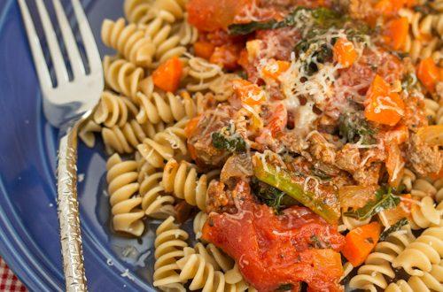 Rotini with Beefy Kale Ragù