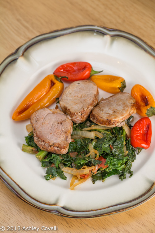 Pan-Seared Pork Tenderloin with Sautéed Kale