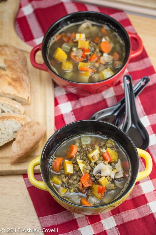 Hearty Delicata Squash and Lentil Soup