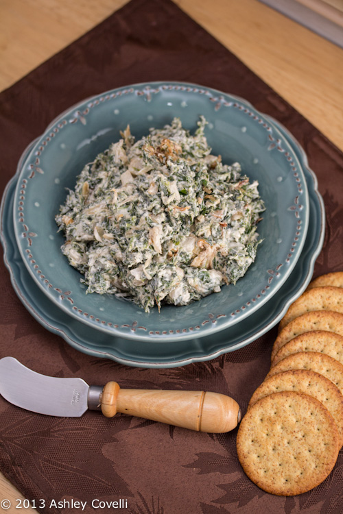 Caramelized Onion and Spinach Dip with Sage