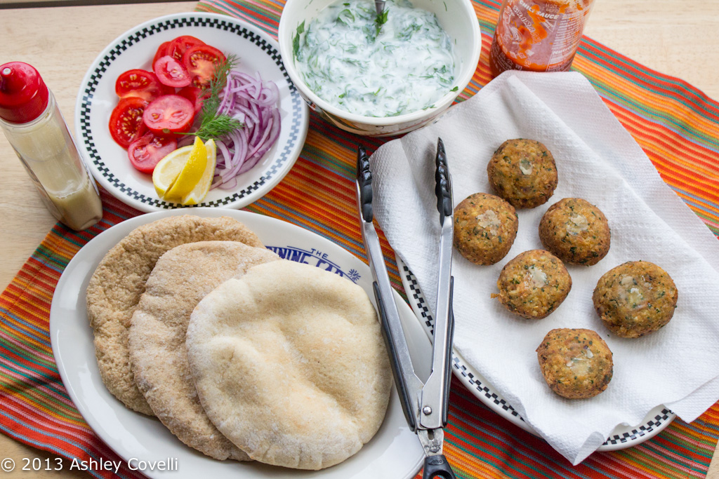 Falafel with Yogurt-Herb Sauce
