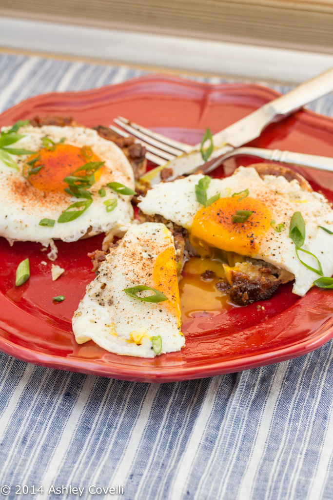 Eggs and Toast with Bacon and Caramelized Onion Jam