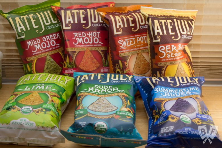 7 varieties of Late July tortilla chips