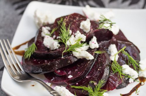 Roasted Beets with Goat Cheese and Dill