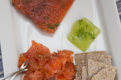 Salmon Gravlaks with Cucumber Jelly