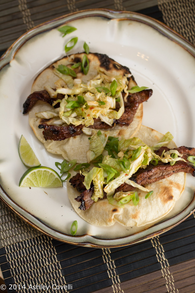 Korean-Style Beef Tacos with Quick Pickled Cabbage